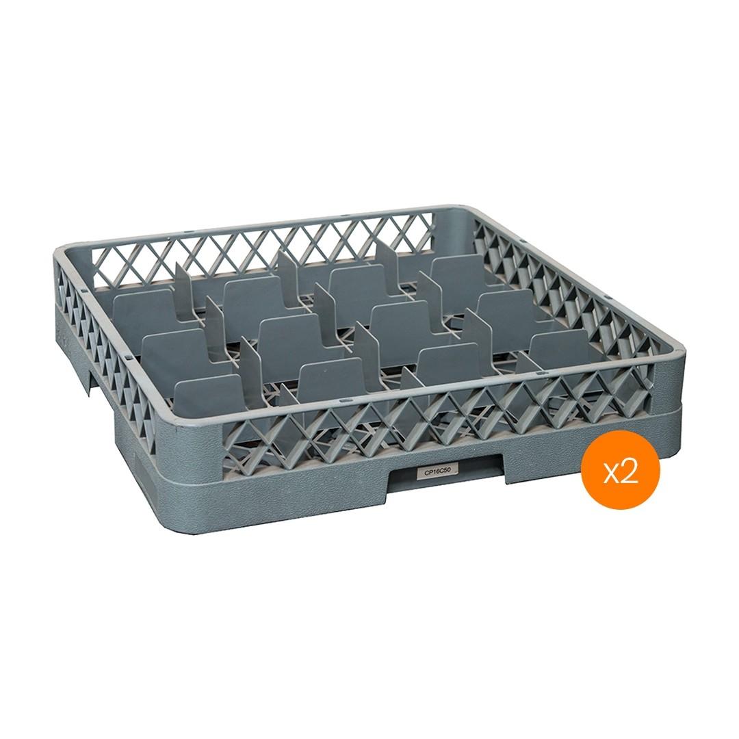Lavadora de Vajillas Cesto Portador 16 Compartimientos - Pack x2