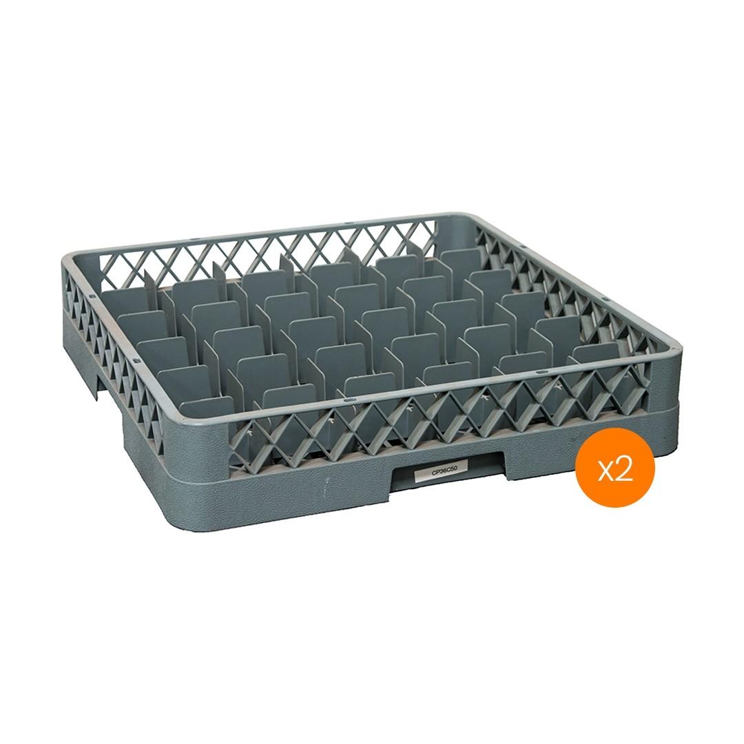 Lavadora de Vajillas Cesto Portador 36 Compartimientos - Pack x2