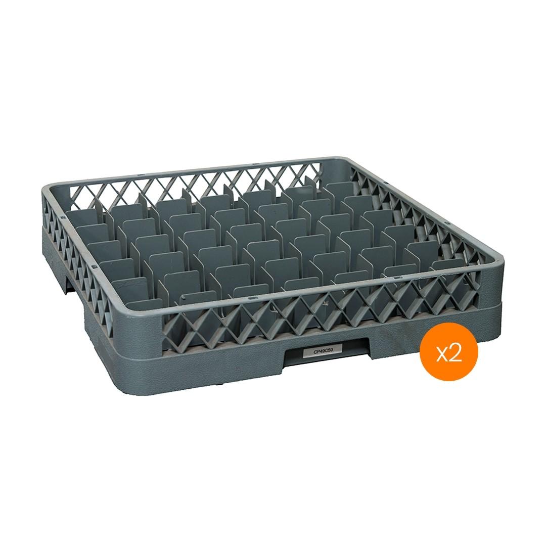 Lavadora de Vajillas Cesto Portador 49 Compartimientos - Pack x2