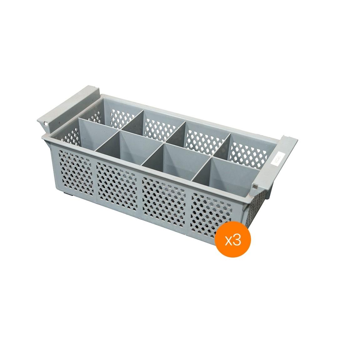 Lavadora de Vajillas Cesto Porta Cubiertos Doble - Pack x3