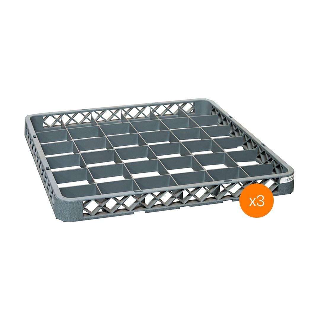 Lavadora de Vajillas Extensor 36 Compartimientos - Pack x3